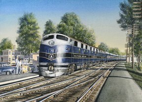 Dinner Call at Silver Spring - The B&O Capitol Limited