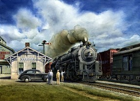 Wabash Meet at Wakarusa - The Wabash #2814 Class M1 4-8-2 Locomotive