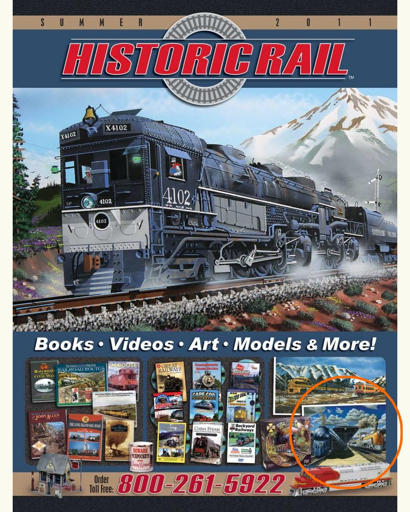 Founding Fathers on Front Cover of Historic Rail