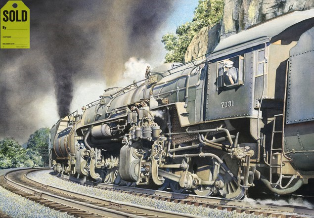 Railroad Painting 100 Cars Ahead Railroad Print For Sale