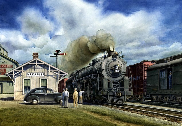 Train Print The Wabash 2814 Class M1 4 8 2 Locomotive