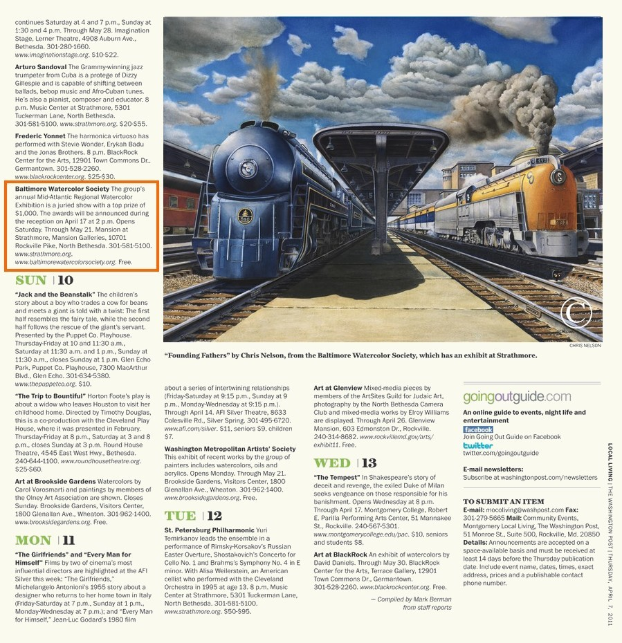 Washington Post Article Features Train Painting